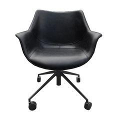 Дизайнерский Стул Бордо офисный черный + ножки черные от Deephouse!