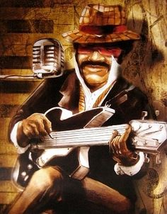 Posterazzi The Guitarist Canvas Art - Bresso Sola x Freedom Art, African American Art, Black Art, Find Art, Framed Artwork, Canvas Art, Statue, Art Prints, Illustration