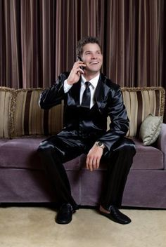 Silk men nightwear pajamas--Black pajamas #Silk #pajamas | Mens ...