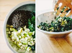 Power Green Salad . Kale, Lentils, Apple | Sprouted Kitchen