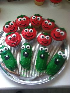 My momma's so neat such a great Grammy ! Veggie Tales Bob and Larry.  Bob is cupcakes Larry is Twinkies!  Kids Birthday party