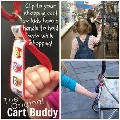 Tolle Idee für Geschwister, ein Festhaltegriff für Buggy, Kinderwagen, Einkaufswagen (nur Idee, ohne Anleitung)