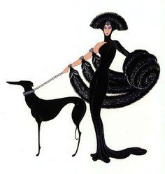 Symphony in Black  Erte'  Paris  1920s