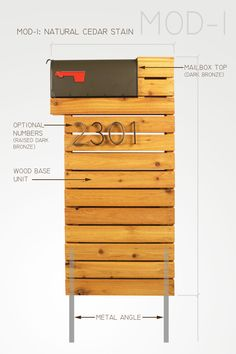 Modern Mailbox Natural Cedar by ModernistMailbox on Etsy
