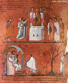 Codex Purpureus Rossanensis Judas hangs himself