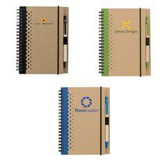Cute mini notebook with pen.