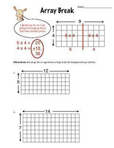 Array Break Multiplication (Worksheet)