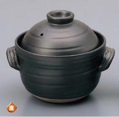 直火OK !!中蓋付 大黒2合炊飯土鍋