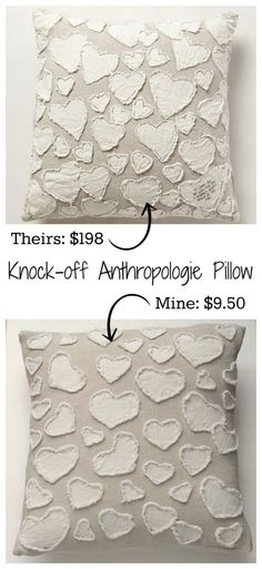Whenever I go to a city with real stores, I make sure I go to Anthropologie. Mainly to just look and drool and shop their clearance section though, because I'm not, you know, a bajillionaire. I found this pillow for $198. TWO HUNDRED DOLLARS. FOR A PILLOW. The chair I'd put it on didn't even cost $198! So naturally I needed to figure out a way to make it myself. And I did.