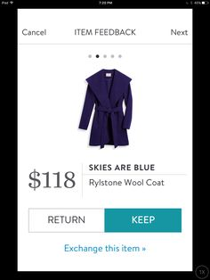Ashley, this coat is a beautiful color, love the big collar and tie. JZ