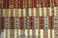 Shetland Museum knitwear collection. 1920's Fair Isle patterned scarves.