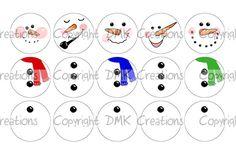 Build A Snowman images for bottle caps