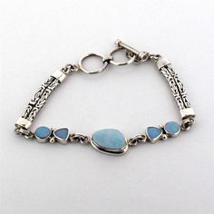 Opal Bracelet Sterling Silver Gemstone Jewelry Bali Design Toggle #Younique