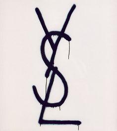 YSL logo graffiti tag handstyle drips