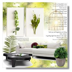 """""""Botanical Living"""" by sportsonista ❤ liked on Polyvore featuring interior, interiors, interior design, home, home decor, interior decorating, Tommy Mitchell, Pier 1 Imports, Linteloo and Mineheart"""