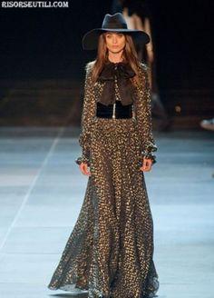 yves saint laurent 2015 collection   Yves Saint Laurent fashion long dresses collection spring summer 2013