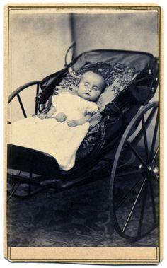 ca. 1860-75, [Post mortem, child with rattle], S.C. Landon