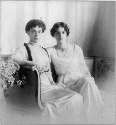 Grand Duchess Xenia Alexandrovna of Russia with her daughter, Princess Irina Alexandrovna.