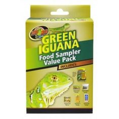 Green Iguana food sampler.