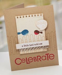 Another really cute card using the Little Bitty Bird and Little Bitty Bird Additions sets from PTI!
