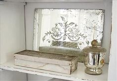 Gorgeous etched mirror!