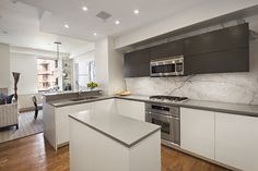 3BR Designer Triplex with Roof Deck  Welcome to this bright, luxurious, and architectural gem on coveted Jane Street in the West Village. This 3 bedroom, 2 bathroom-triplex features a stunning modern kitchen, state of the art Crestron lighting, automatic shades and sound system, ample closets, central HVAC, washer, dryer, and a private roof deck. High ceilings, 7-foot windows, exposed brick, oak floors, and thoughtfully-detailed finishes throughout make this a premier listing.