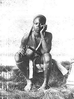 Dahomey (now Benin) Amazon Femal Warrior 1890
