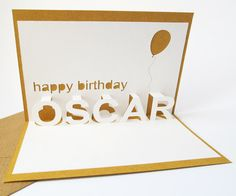 Personalised Pop-up Birthday Card