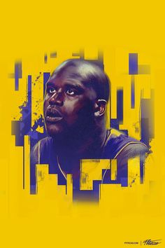 Shaquille Oneal - Poster NBA by Caroline Blanchet, via Behance