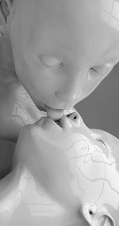 TTY-Art - The Little Models, Kiss of Love, 2013.  (Digigraphie mounted on Dibond. Diasec finishing). ☚