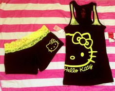 Hello Kitty PJ's black and yellow!!! :)