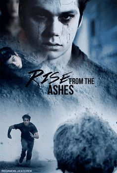 rise from the ashes gif of Stiles Stalinski played by Dylan O'Brien on Teen Wolf