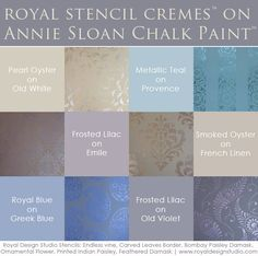 Royal Stencil Cremes paired with Chalk Paint® | Royal Design Studio