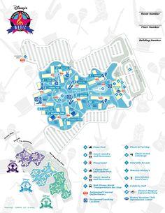 Disney Resorts -- All Star Music map   Pinned by Mouse Fan Travel   #disneyworld #disney #resort #hotel #travel #vacation