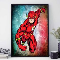 The Flash Superhero Poster, The Flash Print, DC Comics Print, Superhero Decor, DC Comics Art, Justice League Poster, The Flash (472) by PointDot on Etsy