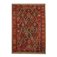 Herat Oriental Afghan Hand-woven Tribal Vegetable Dye Kilim Rust/ Red Wool Rug (6'10 x 10')