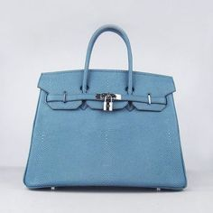 8bf1465ea388 Faux Hermes Birkin Light Blue Pearl Stripe Leather Bag On Discount. myhome  · sac hermes birkin pas cher