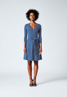 Perfect Wrap Mini in Gingham Marine - Leota  - 1