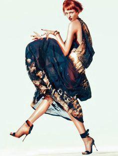 daga ziober photographed by sebastian kim for vogue germany january 2012. / iiiinspired: dance the night away