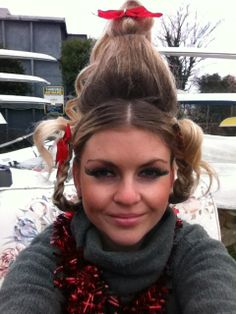 Cindy lou who the grinch who stole christmas makeup tutorial cindy lou who christmas fancy dress costume diy for work halloween solutioingenieria Choice Image