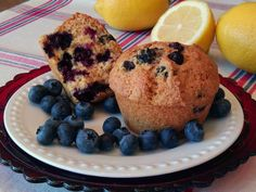 Blueberry Muffins, a breakfast classic in single and family size servings!