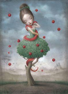 Nicoletta Ceccoli - Bliss | http://jonathanlevinegallery.com/?method=Exhibit.ExhibitArt&exhibitID=617E802A-0EC5-16CB-654F22F664E68C63&artidx=2&artistidx=10