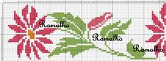 This Pin was discovered by Rey Mini Cross Stitch, Cross Stitch Borders, Cross Stitch Flowers, Cross Stitch Designs, Cross Stitching, Cross Stitch Patterns, Crewel Embroidery, Cross Stitch Embroidery, Pinterest Cross Stitch