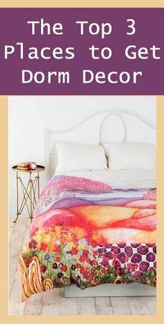 The Top Places to Get Dorm Decor #dorm #dormroom #college