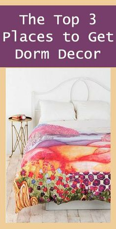 The Top Places to Get Dorm Decor #dorm #dormroom #college