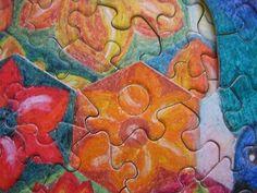 """Puzzle """"O Vôo do Beija-Flor"""" - Método """"buraco/botão"""" para possibilitar o movimento 3 - Por Antônia Sobral"""
