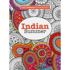 #Indian #summer - adult #colouring book by elizabeth james (paperback), art book,  View more on the LINK: http://www.zeppy.io/product/gb/2/151855949555/