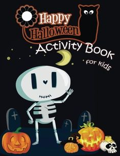The Paperback of the Happy Halloween Activity Book for Kids: A Fun Book Filled With Cute Zombies,Monster Coloring, Dot to Dot,Mazes,Matching Shadow picture Halloween Theme Preschool, Halloween Books For Kids, Halloween Activities For Kids, Kids Activity Books, Book Activities, Kawaii Halloween, Happy Halloween, Cute Zombie, Toddler Coloring Book