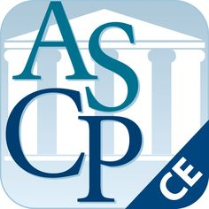 ASCP CPE Mobile App: American Society of Consultant Pharmacists: Professional Development for improving the lives of seniors. Find accredited continuing education opportunities designed for pharmacists in geriatrics.