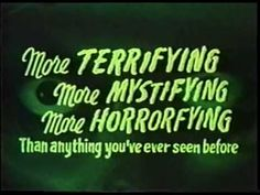 A compilation of B-movie trailers, clips, adverts and cinema announcements. I cut, spliced and diced especially for Halloween Visit Weird Retro's websi. Halloween Movie Night, Horror Show, Scary Movies, Movie Trailers, Weird, Cinema, Horror Films, Movies, Horror Movies